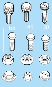 Screws, Nuts and Bolts Isometric Libraries Detail